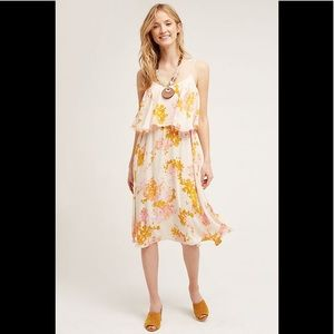 Anthropologie Paper + Crown Magnolia Midi Dress